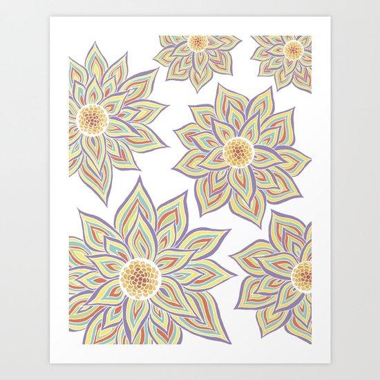 Floral Rhythm Art Print