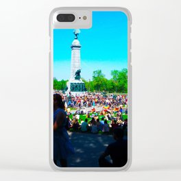 Tam Tam in the Summer Clear iPhone Case