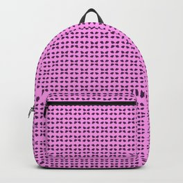 Phillip Gallant Media Design - Purple Shapes on Pink Backpack