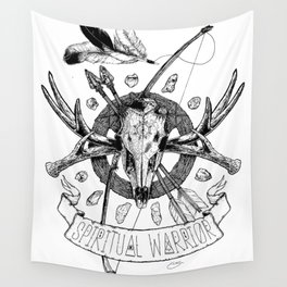 Spiritual Warrior Wall Tapestry