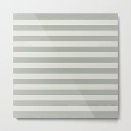 Gray Grey Stripes Metal Print