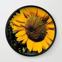 Sunflower Fresco Wall Clock