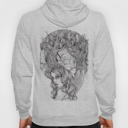 JennyMannoArt GRAPHITE DRAWING/FAIRIE Hoody