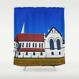 St. Mary's Church side view Shower Curtain