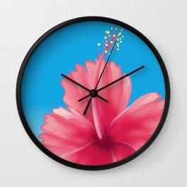 puerto rico Flor de maga Travel poster Wall Clock