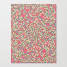Neon Bubbles Canvas Print