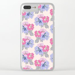 Pastel Peonies Clear iPhone Case