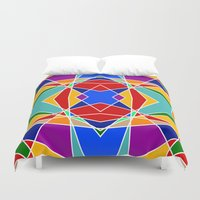 cracked Duvet Covers featuring Cracked by MarkStantonDesign
