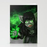 homestuck Stationery Cards featuring Homestuck: Grimbark Jade by EternalAshley225