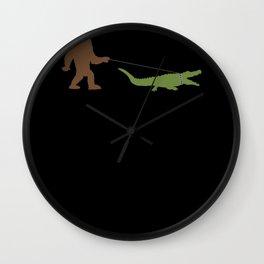 Alligator Bigfoot Alligator Crocodile Animal Wall Clock