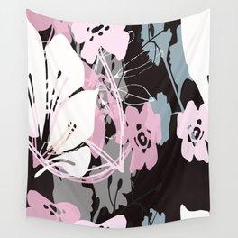 prink floral Wall Tapestry