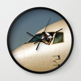 HEY! Can You Check the Oil Too? Wall Clock