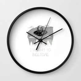 I Want To Believe in Kang and Kodos Wall Clock