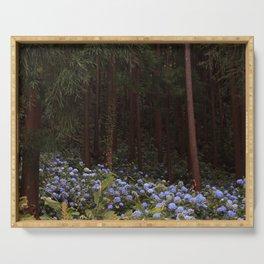 Mystic Forest - Hydrangeas Serving Tray