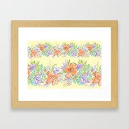 hawaiian tropical flowers yellow Framed Art Print