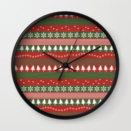 christmass and new year Wall Clock