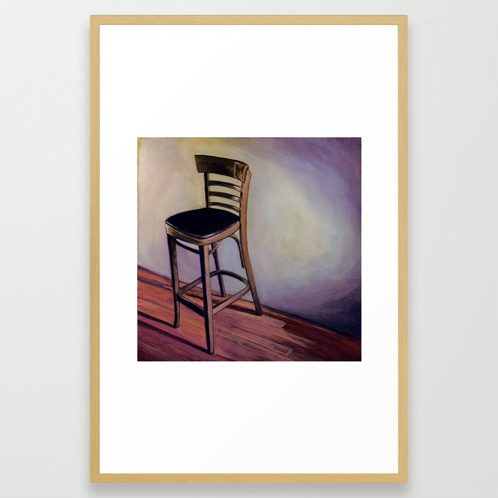Barstool Framed Art Print