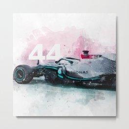 Formula One Lewis Hamilton 44 Metal Print