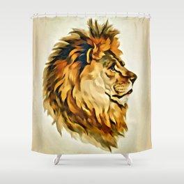 MAJESTIC LION PORTRAIT Shower Curtain