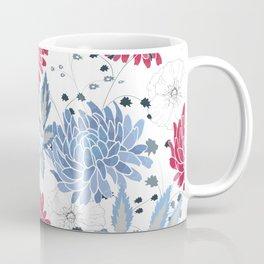 Red & blue hollyhocks Coffee Mug
