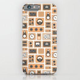 Mission Control - Orange & Black iPhone Case