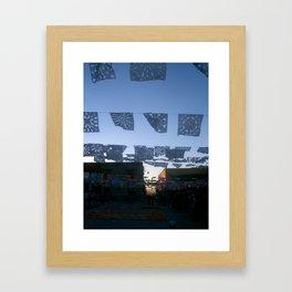 papel picado-cut paper Framed Art Print