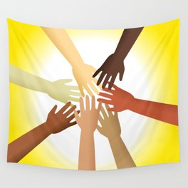 Diverse Hands Wall Tapestry