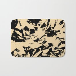 Beige Yellow Black Abstract Military Camouflage Bath Mat