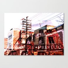 Toronto, Queen Street Canvas Print