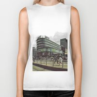 oslo Biker Tanks featuring Modern city center of Oslo in Norway by Sunsetter Impact