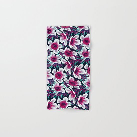 Manuka Floral Print -  Light Hand & Bath Towel