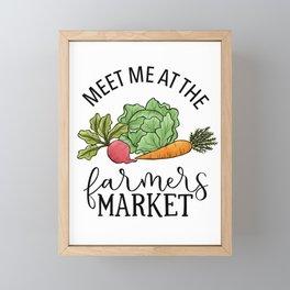 Meet Me At The Farmers Market Framed Mini Art Print