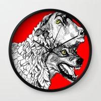 predator Wall Clocks featuring Predator by Wellington Sun