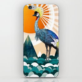 Crowned Crane iPhone Skin