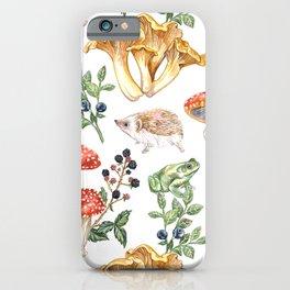 Woodland Mushrooms & Hedgehogs iPhone Case
