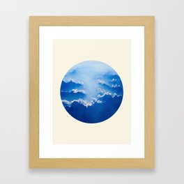 Mountains With Their Company Of Clouds Circle Photo Framed Art Print