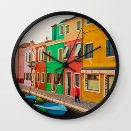 Burano Island III Wall Clock