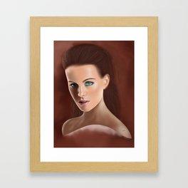 Bengslicaake - Kate Beckinsale Framed Art Print