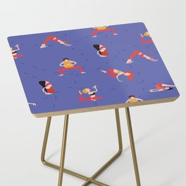 Yoga Girls blue lines Side Table