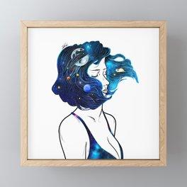blowing  universe mind. Framed Mini Art Print