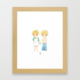 Little twin boy Framed Art Print