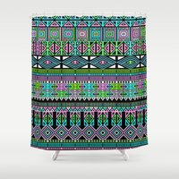 aztec Shower Curtains featuring Aztec by Fimbis