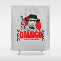django Shower Curtains featuring Django logo by Buby87
