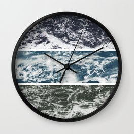 SaltWater Tryptych Variation II Wall Clock