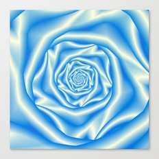 Blue Rose Spiral Canvas Print