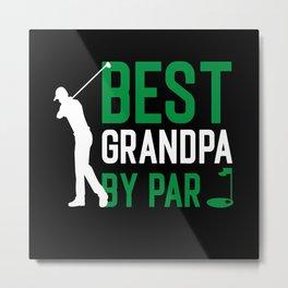 Grandpa Retired Golf hobby Metal Print
