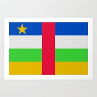 Central African Republic Flag (Patchwork Look) Art Print