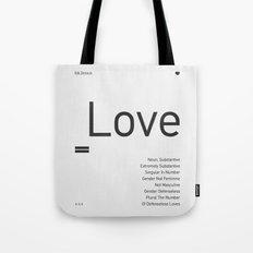 Valentine's gift. Love Tote Bag