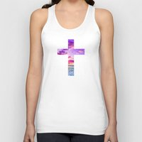 pocketfuel Tank Tops featuring CROSS by Pocket Fuel