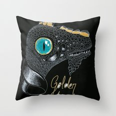 Golden Horn Throw Pillow